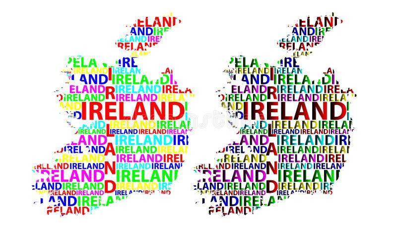 Översikt av Irland - vektorillustration stock illustrationer