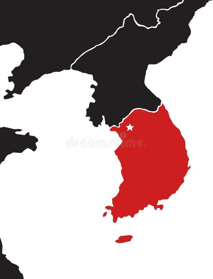 Översikt av Korea arkivbild