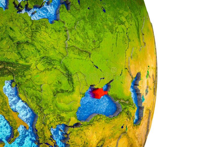 Översikt av Krim på jord 3D royaltyfri illustrationer