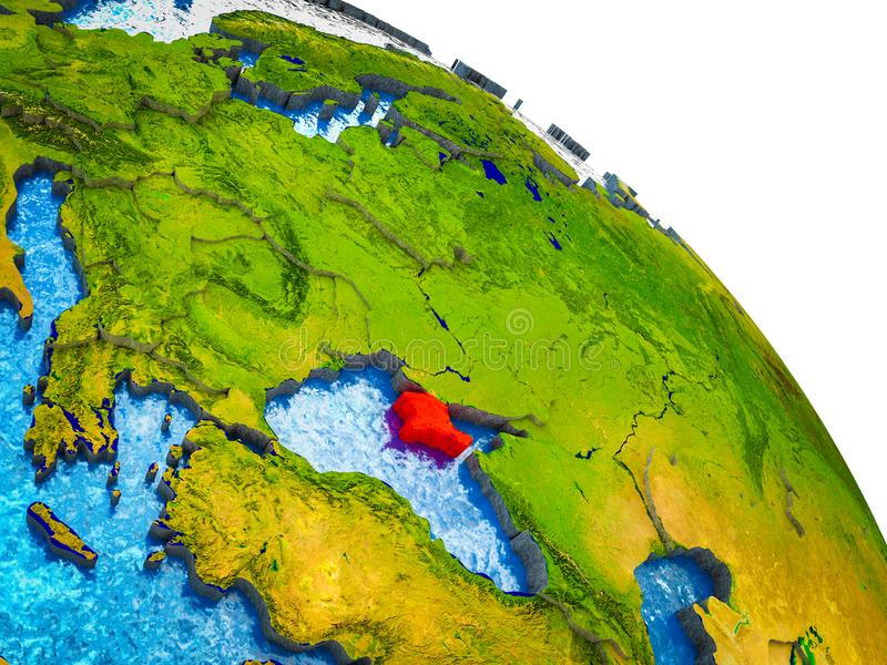 Översikt av Krim på jord 3D vektor illustrationer