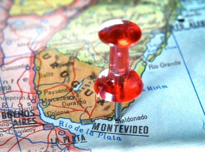 Översikt av Montevideo Uruguay royaltyfri bild