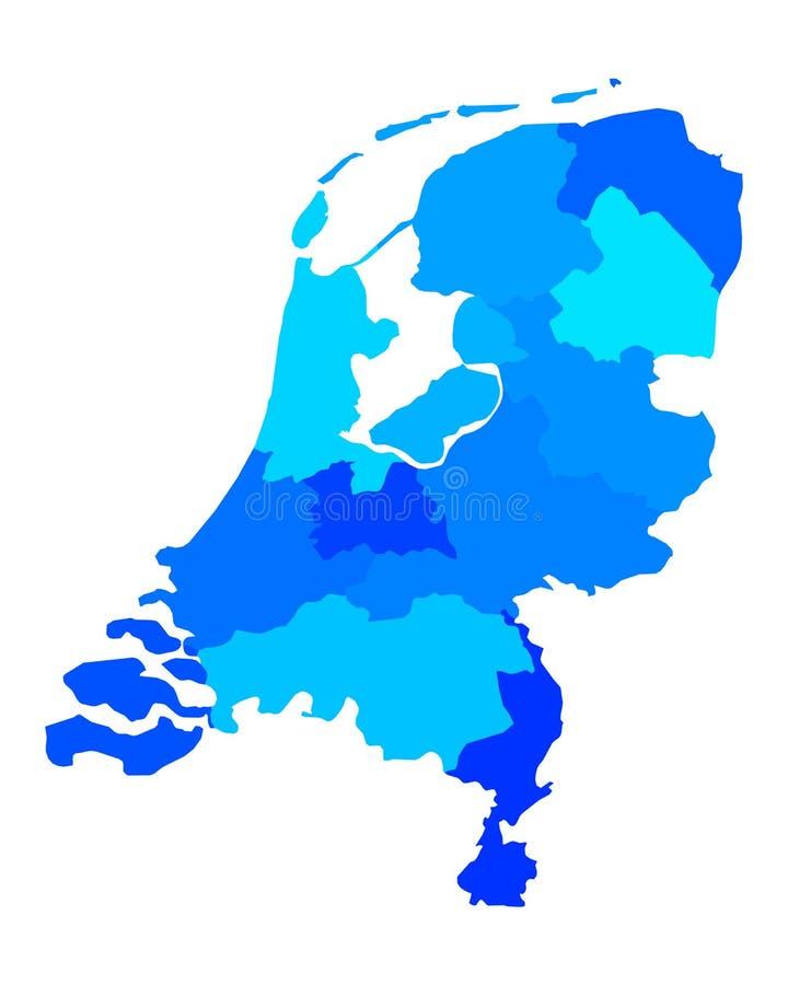 Översikt av Nederländerna stock illustrationer