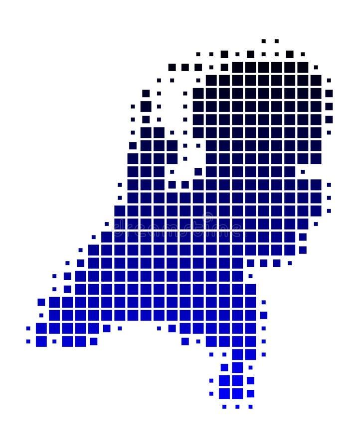 Översikt av Nederländerna royaltyfri illustrationer