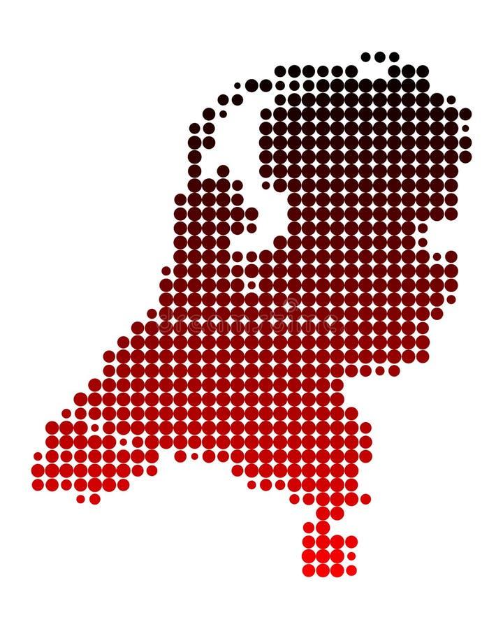 Översikt av Nederländerna vektor illustrationer