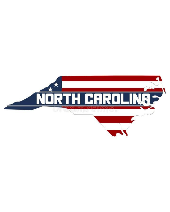 Översikt av norr Carolina State royaltyfri illustrationer