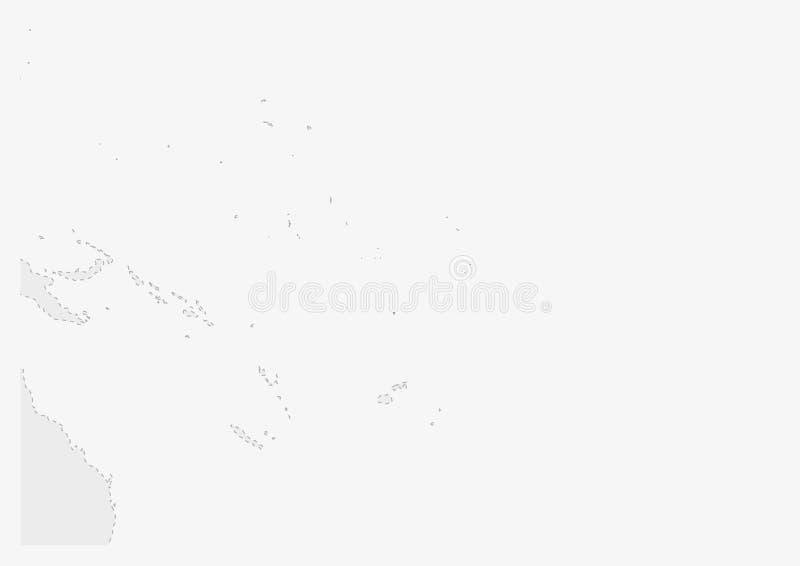 Översikt av Oceanien med den markerade Tuvalu översikten stock illustrationer
