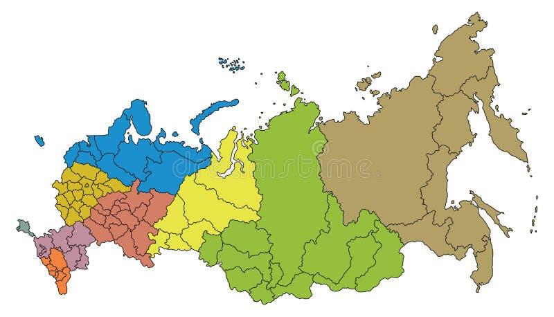 Översikt av rysk federation royaltyfri illustrationer