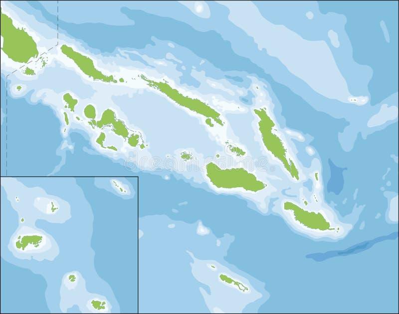 Översikt av Solomon Islands royaltyfri illustrationer