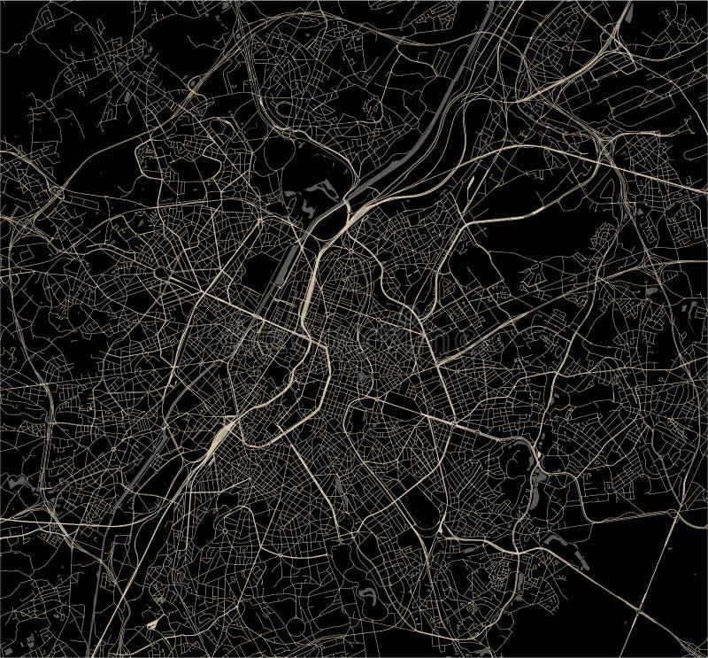 Översikt av staden av Bryssel, Belgien royaltyfri bild