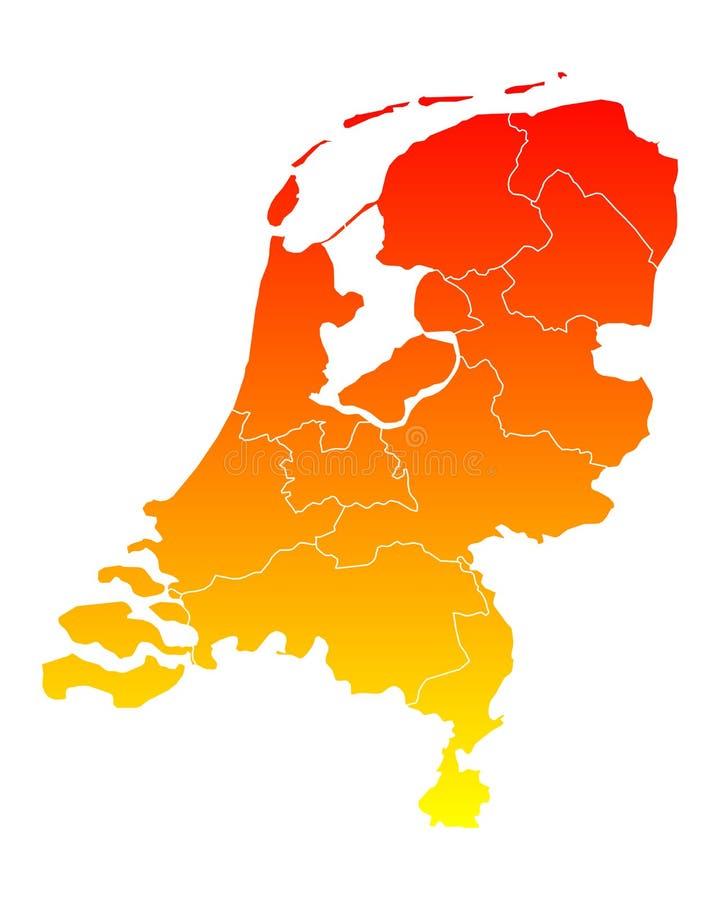 Översikt av thr-Nederländerna stock illustrationer