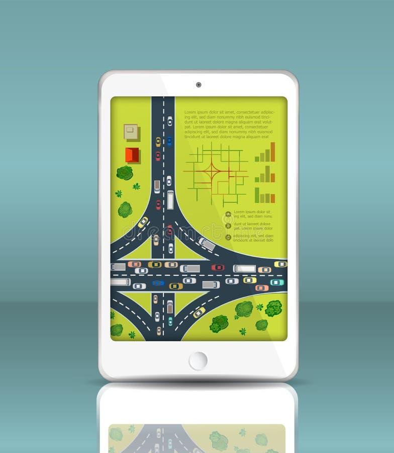Översikt av trafik stock illustrationer