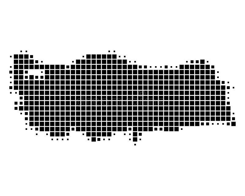 Översikt av Turkiet vektor illustrationer