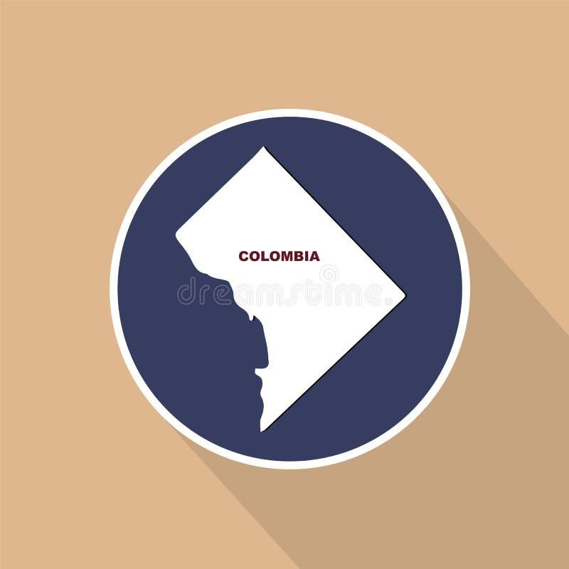 Översikt av Uen S District of Columbia Statligt namn royaltyfri illustrationer