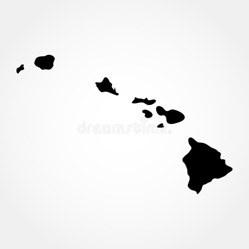 Översikt av Uen S hawaii tillstånd stock illustrationer