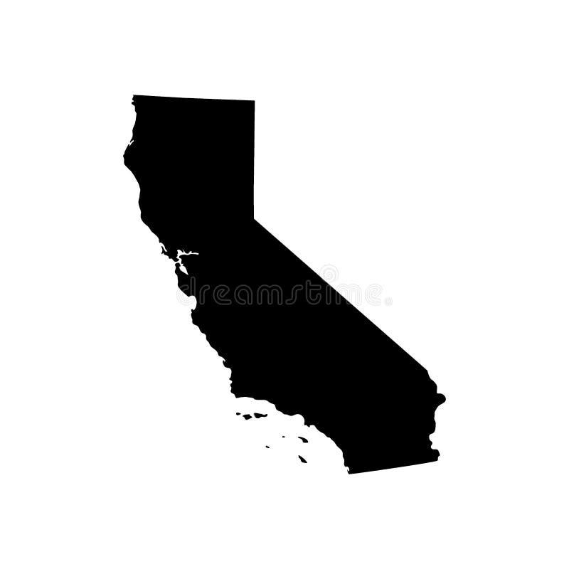 Översikt av Uen S Kalifornien tillstånd vektor illustrationer