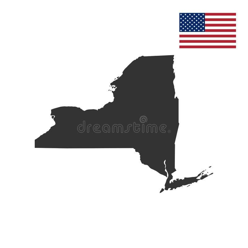 Översikt av Uen S nytt tillstånd york royaltyfri illustrationer