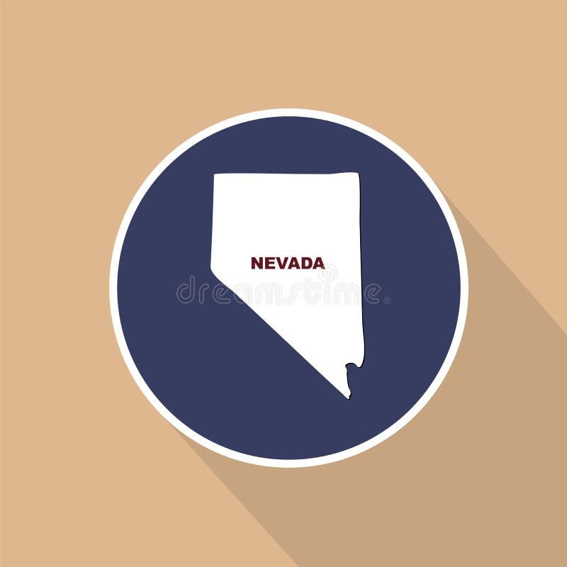 Översikt av Uen S stat av Nevada på en blå bakgrund Statligt namn vektor illustrationer