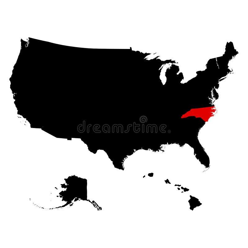 Översikt av Uen S statlig North Carolina vektor stock illustrationer