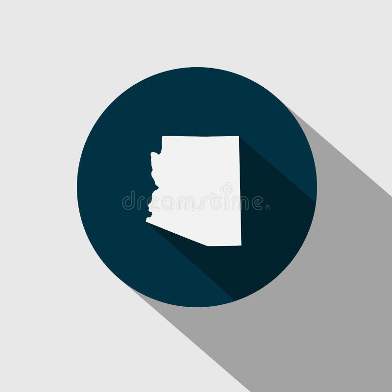 Översikt av Uen S statliga Arizona stock illustrationer