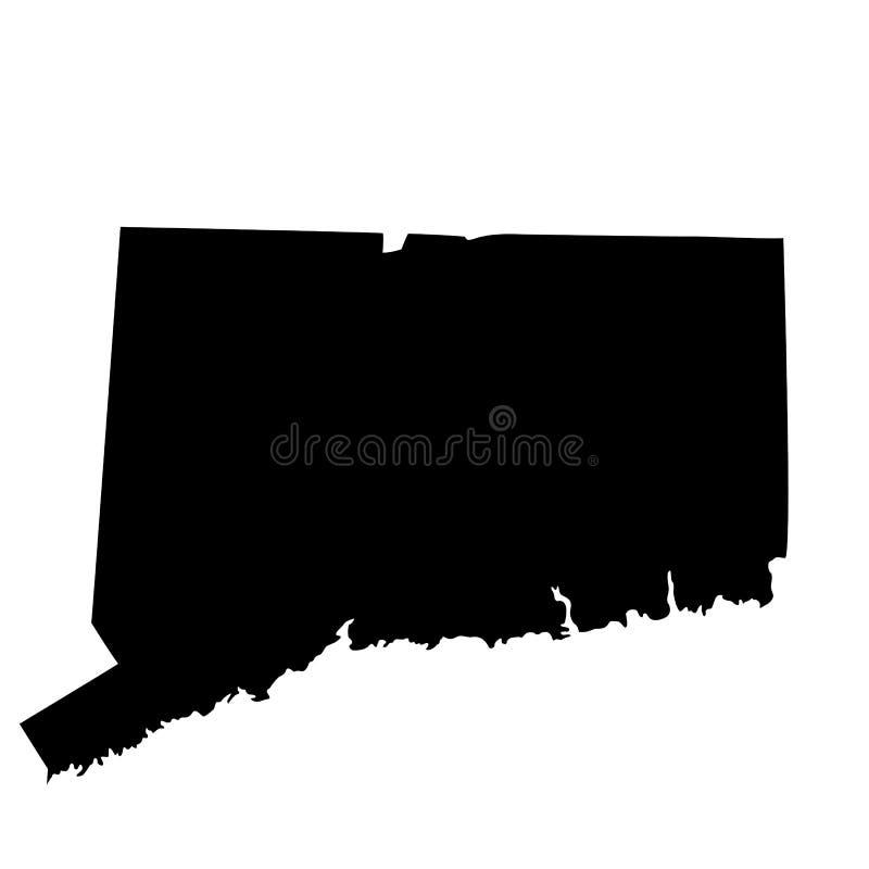 Översikt av Uen S statliga Connecticut vektor illustrationer