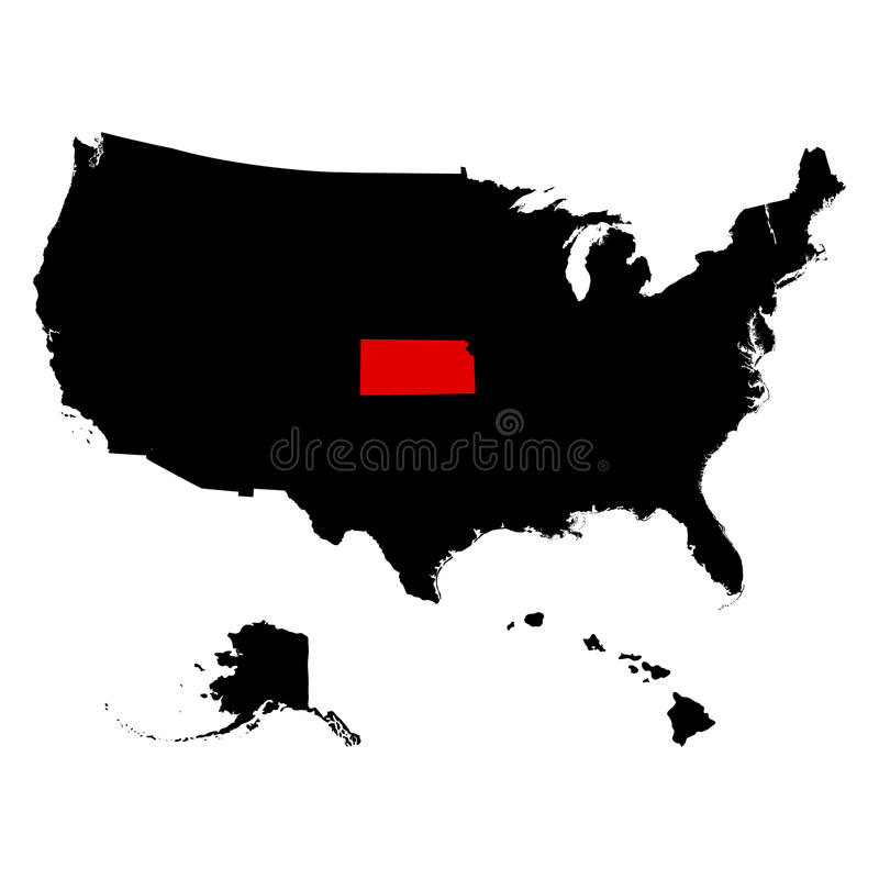 Översikt av Uen S statliga Kansas royaltyfri illustrationer