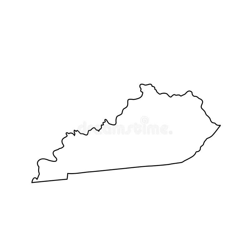 Översikt av Uen S statliga Kentucky stock illustrationer