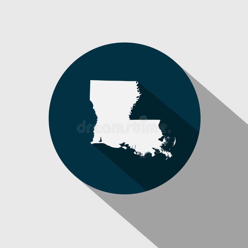 Översikt av Uen S statliga Louisiana vektor illustrationer