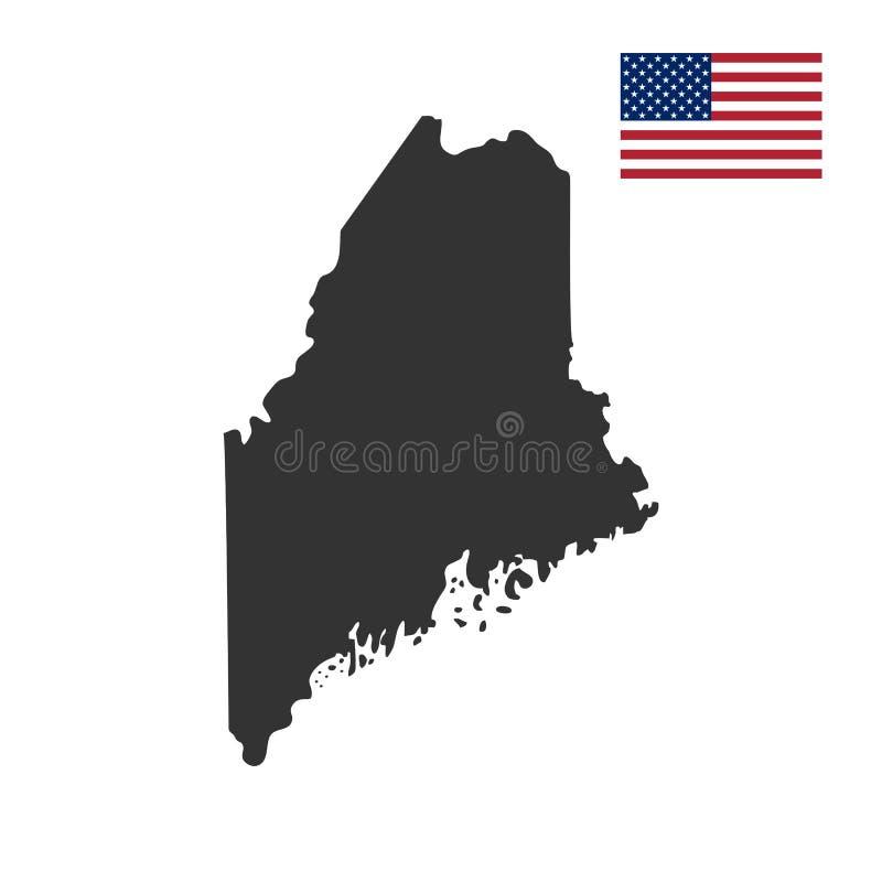 Översikt av Uen S Statliga Maine stock illustrationer