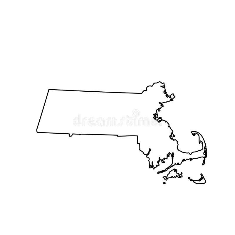 Översikt av Uen S statliga Massachusetts royaltyfri illustrationer