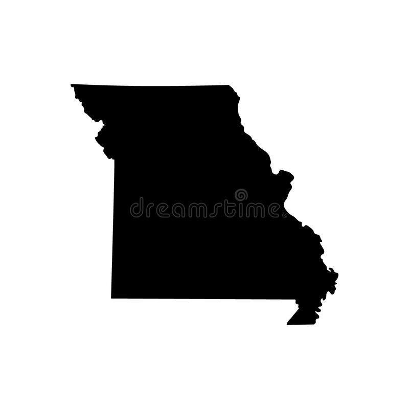 Översikt av Uen S statliga Missouri royaltyfri illustrationer
