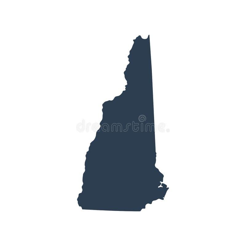 Översikt av Uen S Statliga New Hampshire vektor illustrationer