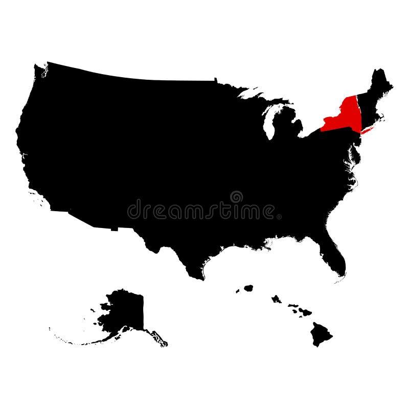 Översikt av Uen S statliga New York vektor illustrationer