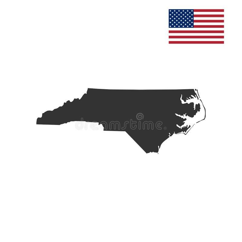 Översikt av Uen S statliga North Carolina vektor illustrationer