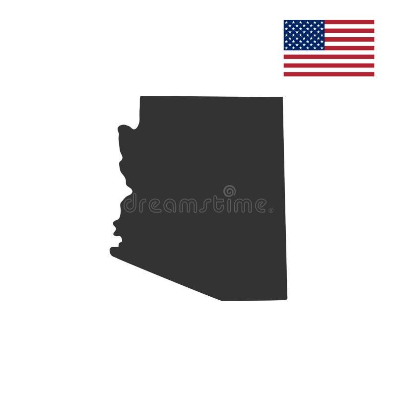 Översikt av Uen S Tillstånd av Arizona vektor illustrationer