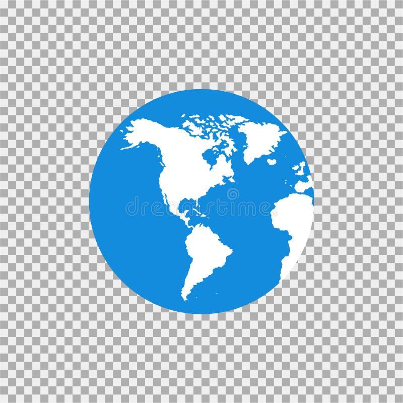 Översikt av världen på en grå bakgrund royaltyfri illustrationer