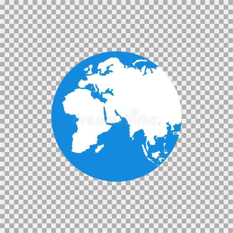 Översikt av världen på en grå bakgrund stock illustrationer