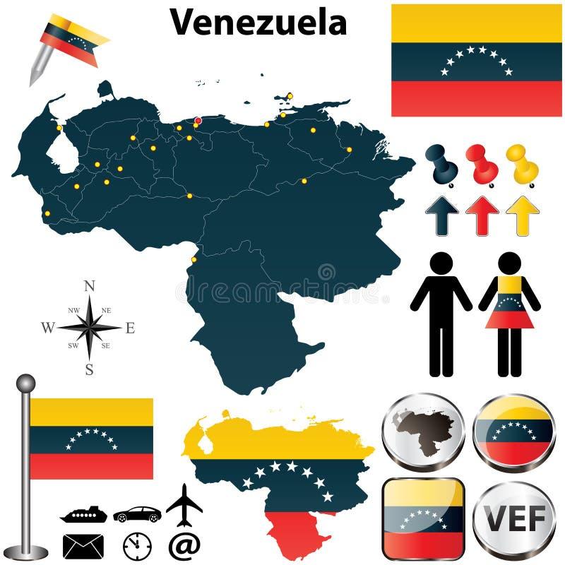 Översikt av Venezuela stock illustrationer