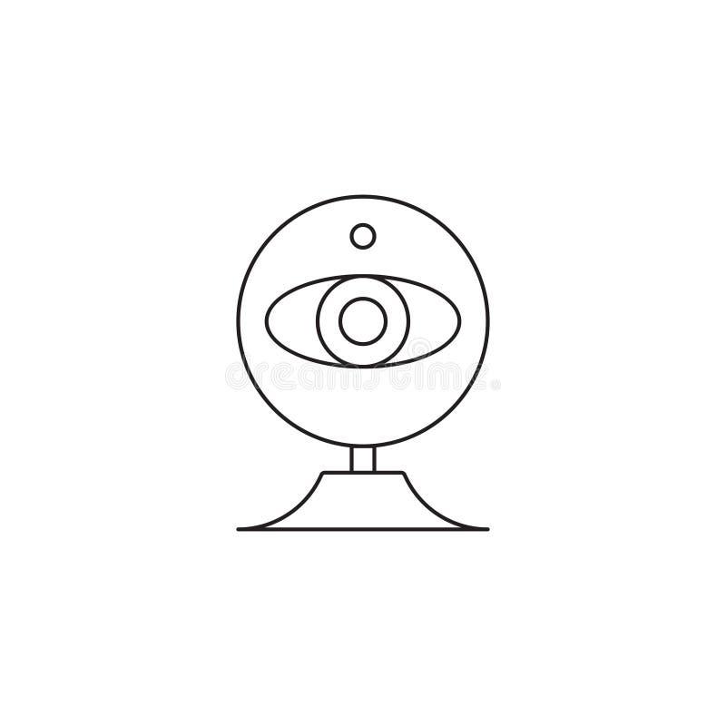 Översikt eller linje stilvektorillustration för rengöringsdukkamsymbol royaltyfri illustrationer