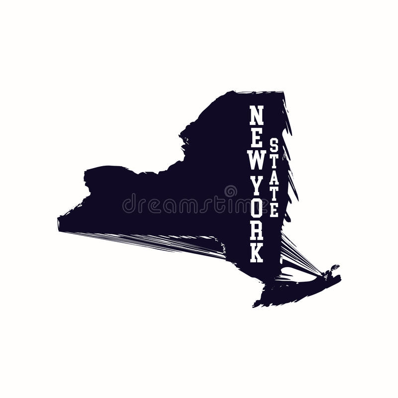 Översikt för abstrakt begrepp för New York stat vektor illustrationer