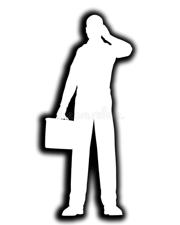 Översikt för affärsman stock illustrationer