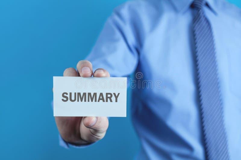 Översikt för affärsmanvisningord på affärskort arkivbild