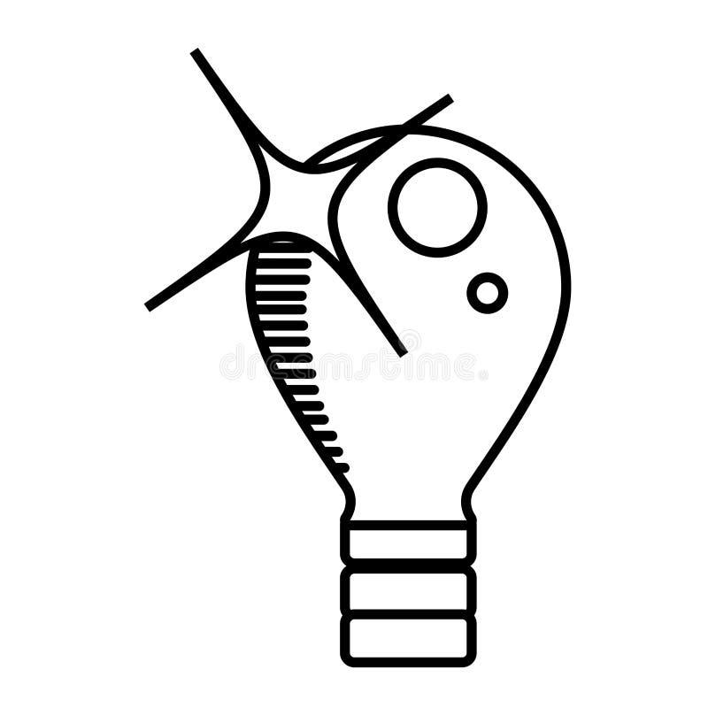 översikt för elektricitet för kulaljus stock illustrationer