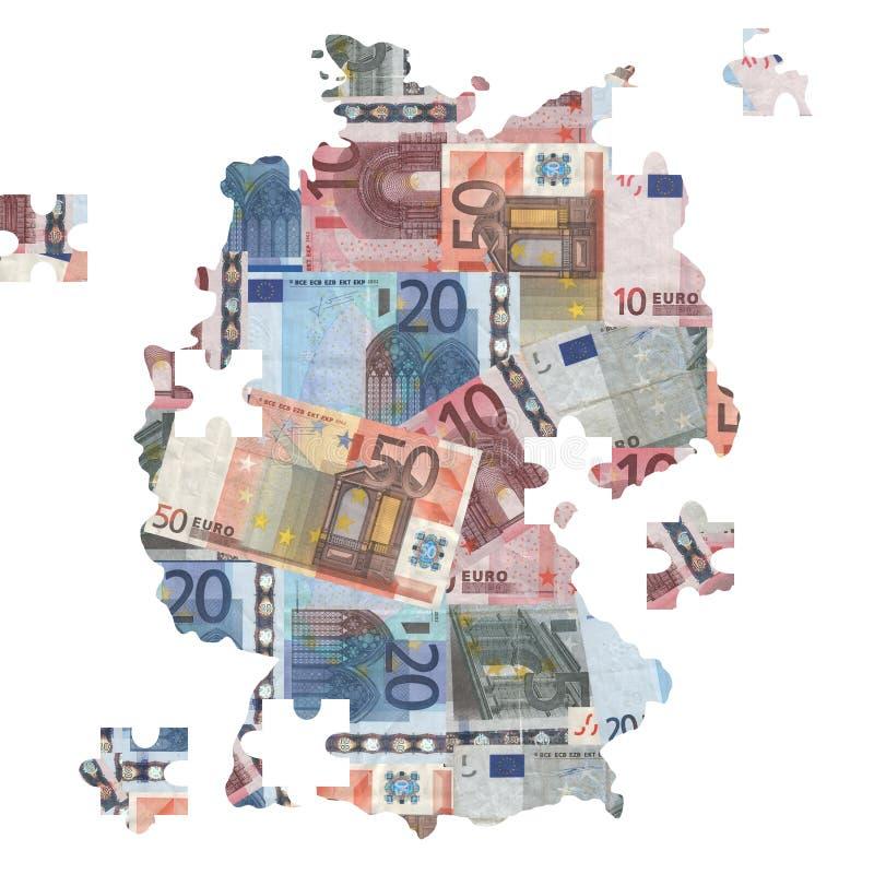 översikt för eurosgermany jigsaw vektor illustrationer
