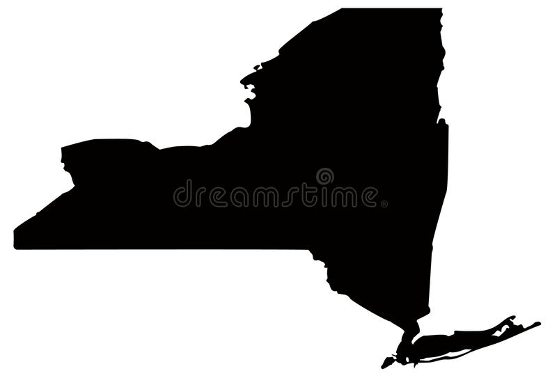 Översikt för New York stat - tillstånd i Amerikas förenta stater royaltyfri illustrationer