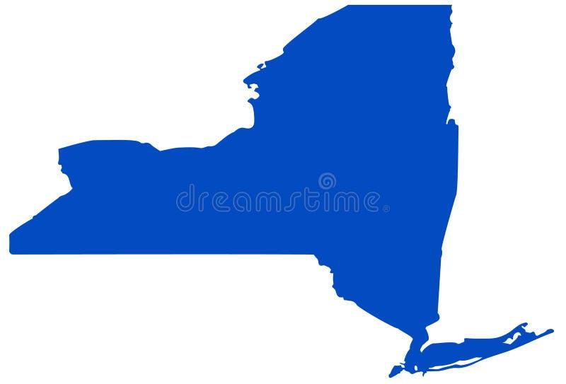 Översikt för New York stat - tillstånd i den nordöstra Förenta staterna vektor illustrationer