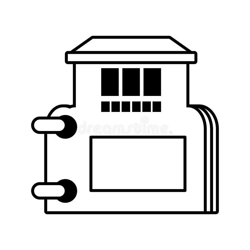översikt för symbol för fastighetarkivkatalog vektor illustrationer