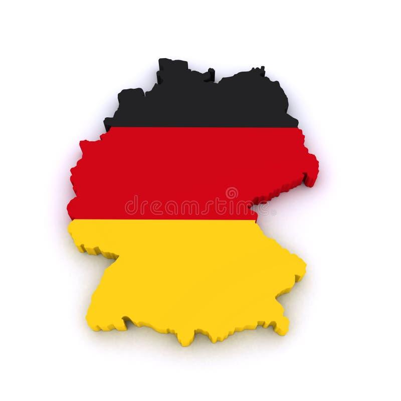 Översikt för Tyskland 3d stock illustrationer