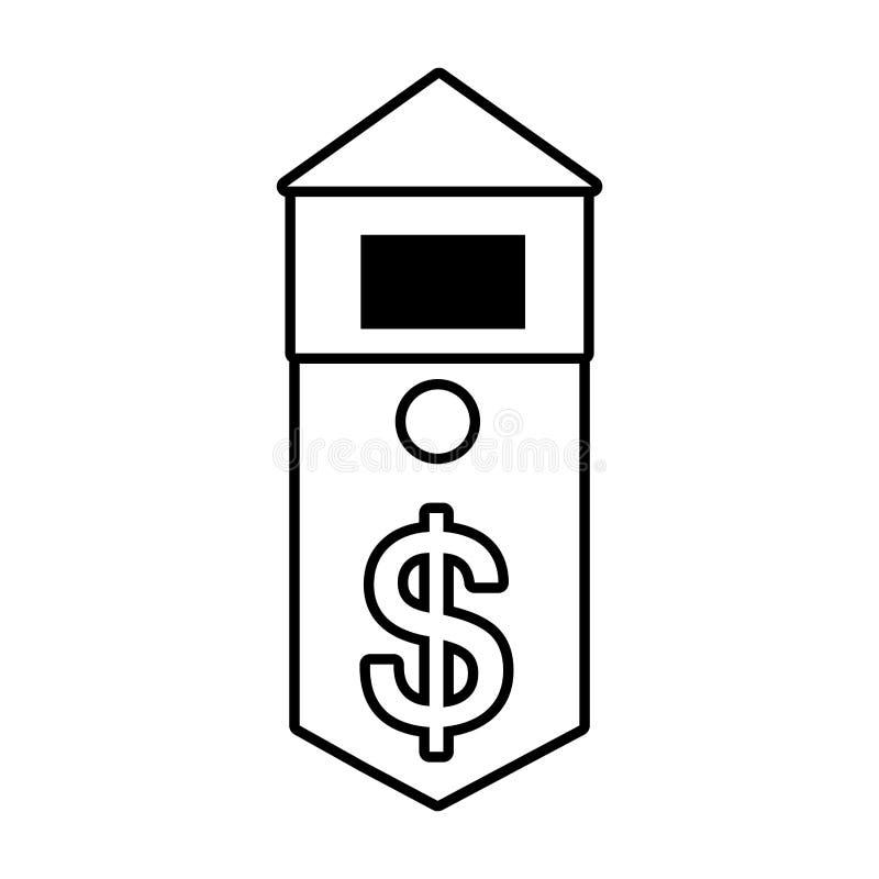 översikt för värde för kostnader för fastighetbyggnadspris vektor illustrationer