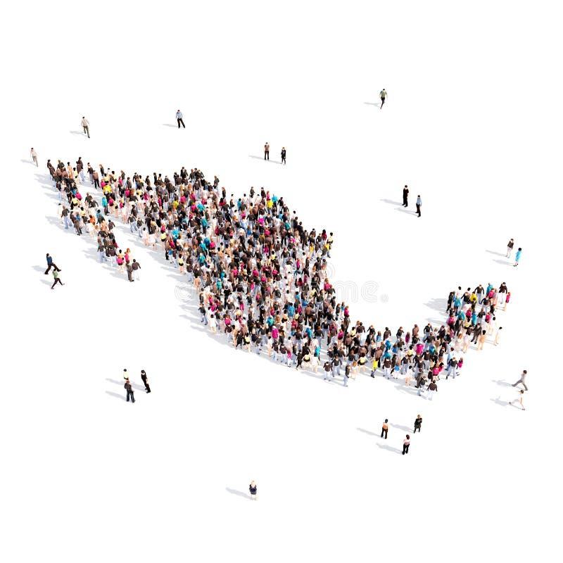 Översikt Mexico för folkgruppform vektor illustrationer