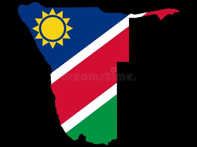 översikt namibia vektor illustrationer